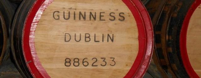 Tonneau de la fameuse bière irlandaise Guinness