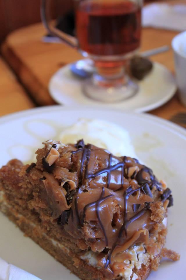 """Une sucrerie façon """"pie"""" à l'allure typiquement irlandaise... Chocolat, caramel et fudge !"""