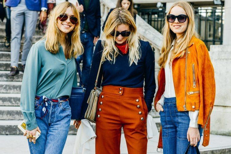 mode-hippie-chic-chemise-jeans-pantalon-taille-haute-veste-cuir-lunettes-soleil-2