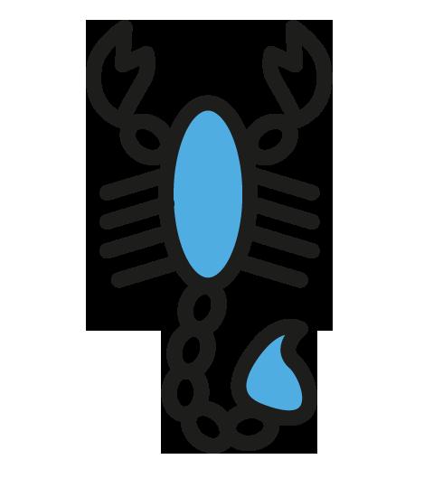 Scorpion-bleu