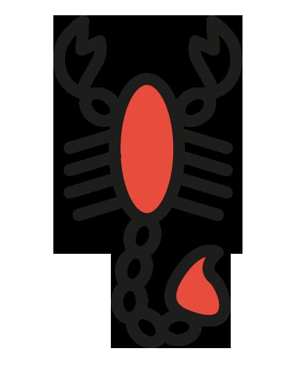 Scorpion-rouge