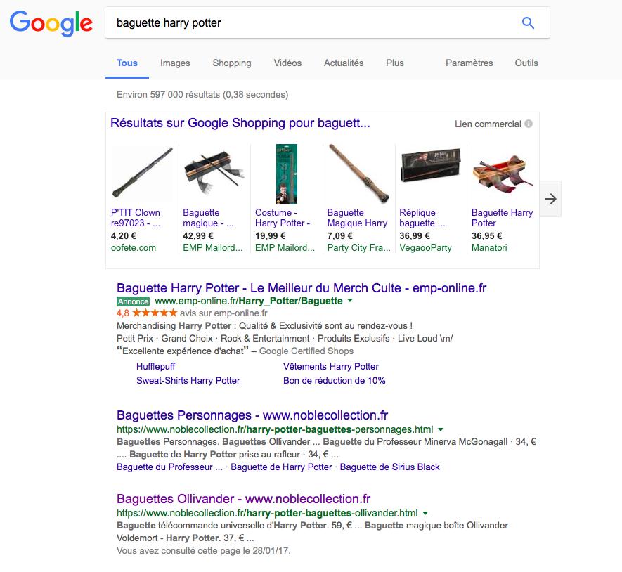 baguettes magiques harry potter google
