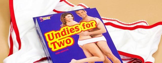 undies for two slip culotte pour deux cadeau fun couple